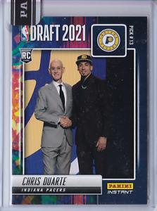 2021-22 Panini NBA Draft Night CHRIS DUARTE Versicolor RC Rookie Card Pacers 1/5