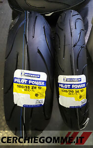 Coppia gomme Moto MICHELIN PILOT POWER M/C 120/70/17 + 180/55/17 DOT2021