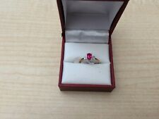 9ct Yellow gold Greated Ruby & Diamond ring  Size L