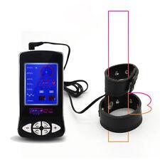 Electric Shock Leather Testis Penis Cock Ring Medical Themed Kit Electro Shock