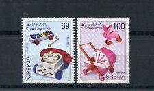 Serbia 2015 MNH Europa Old Toys 2v Set Fisher Price Phone Xylophone