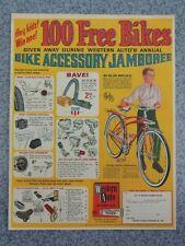 VINTAGE 1966 WESTERN FLYER DELUXE TANK & ACCESSORIES BICYCLE ADVERTISEMENT