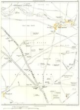 Yorks. Barnsdale, fue borde, Kirk Smeaton, poco Smeaton, wrangbrook, a cuadros en 1935 Mapa
