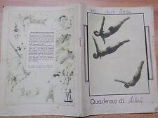 QUADERNO SCOLASTICO con appunti sulla salute degli scolari di PERDIFUMO 1949