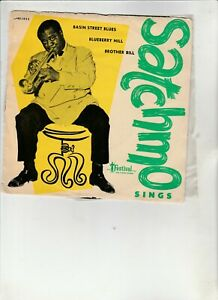 """LOUIS ARMSTRONG-""""Satchmo Sings""""  Aust. 7"""" EP w/PS FESTIVAL XP45-1422"""