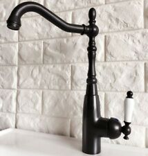 Oil Rubbed Bronze Bathroom Kitchen Faucet 360 Rotation Single Handle Mixer Tap