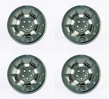 "Golf Cart 10"" Black Chrome ""Demon"" Wheel Covers Hub Caps - (Set of 4)"