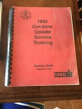Case 1992 Combine Update Service Training