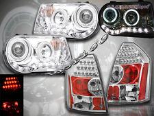 05-07 CHRYSLER 300C SRT8 PROJECTOR HEADLIGHTS CHROME CCFL HALO & LED TAIL LIGHTS