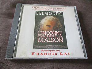 """RARE!! CD BOF """"L'INCONNU DANS LA MAISON avec Jean-Paul Belmondo"""" Francis LAI"""