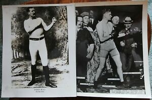 2 Different Boxing Photos: Paddy Ryan & Gunboat Smith