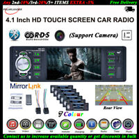 4.1''1 DIN RDS AM FM Car Radio Touch Screen SD MP5 Player Stereo Bluetooth AUX