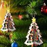 3D Wooden Christmas Tree Hanging Decor Pendant Xmas Festival Party Ornaments