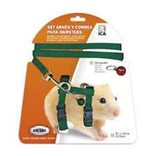 Lot de harnais et laisse pour hamster ica 1CM L 120CM 15X25 CM COULEUR NOIR