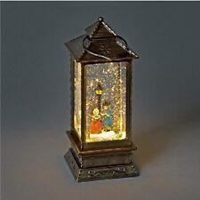 Christmas Metal LED Water Spinner Glitter Snow Globe Lantern Carol Singers  28cm