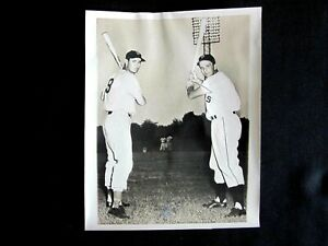 1950 TED WILLIAMS & Ralph Kiner Sluggers Tangle Home Run Derby Promo Real Photo