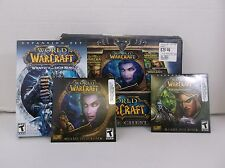World War Craft Battle Chest and Game DVD 2004-2007 Blizzard Ent Windows/Mac