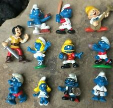 Lot Of 11 Vintage Smurfs Pvc Figures 1980'S Used