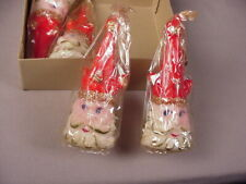 Vintage Santa Claus 4 Candle set 1950's Kings or jesters Mib Nos old stock