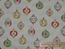Christmas Elegance Ornaments Henry Glass Fabric by the 1/2 Yard  #9929