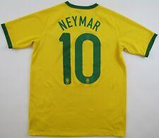 Brazil #10 Neymar 2014 World Cup 2016 Nike shirt camiseta maglia jersey boys XL