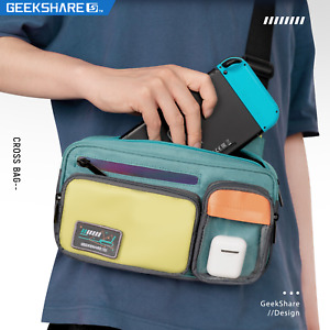 GeekShare Retro Crossbody Bag for Nintendo Switch Backpack Travel Shoulder Bag