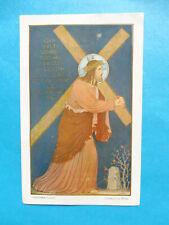 IMAGE PIEUSE   JESUS  PORTANT SA CROIX ORDINATION 1914 RICHELIEU