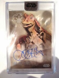 2020 Topps Star Wars STELLAR Ahmed Best BASE AUTO #39/40 Jar Jar Binks