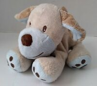 Worn Koala Baby Beige Blue Plush Best Friend Dog Stuffed Jingle Bell Rattle 8""