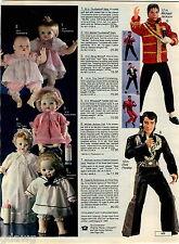 1984 ADVERT Michael Jackson Elvis Presley Doll Dolls Fashion Assortment Thriller