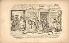 george cruikshank print 1835 : april - st swithins lane scene london