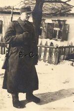 WWII German Large RPPC- Gebirgsjäger- Elite Mountain Troop- Rifle- Greatcoat