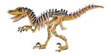 """Puzzle 3D tridimensionale in legno """"Velociraptor"""", dinosauro cm 33x20x5"""