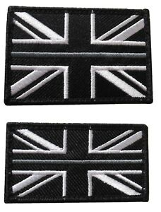 The Thin Silver Line Prison Officer Embroidered Badge Patch Union Jack Flag