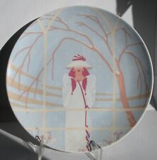Vintage art deco wall plate Inverno of 4 Seasons. Seltmann Weiden, W.Germany