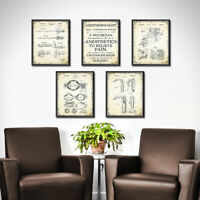 DOCTORS OFFICE ~ Anesthesiologist Decor Set of 5 Prints Wall Art Nurse Gift 1890