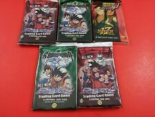 Bundle of 5 Dragon Ball Z Trading Card Game Booster Pack Super Saga & Showdown