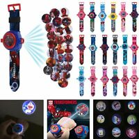 3D Cartoon Projection Watch Patrol Pokemon Paw Wristwatch Kids Children Gifts