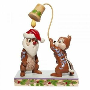 Disney Traditions 6007070 Christmas Chip 'n Dale Figurine New & Boxed