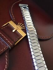 Rare Vintage Excalibur Expandable Watch Strap Band Stainless Steel 18mm England