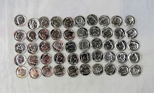 1955 Proof Roll Roosevelt Dimes - 50 Coins -  NICE with Free Shipping!