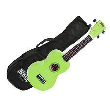 Mahalo Ukulele MR1LGN Rainbow Series GREEN Soprano UKE Aquila Strings Gig Bag