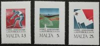 1st anniversary of republic stamps, Malta, 1975, SG ref: 552-554, 3 stamps, MNH