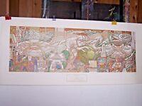 Lumen Martin Winter Color Photo of painting 9 x 14 inch Pope John Paul II