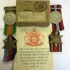 WW2 Burma Star Medal Group Air Force D W Gabriel Muswell Hill London Boxed