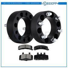 ECCPP 2Pcs Wheel Spacers 4pcs Front Ceramic Disc Brake Pads For Chevrolet GMC
