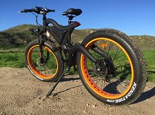 750watts!DUAL SUSPENSION 26' Fat Tire Electric Mountain Bike Bicycle 48v 4'Tire