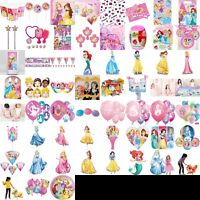 Disney Princess Birthday Party Decorations Table Wear Pink plates cups party bag