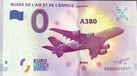BILLET 0 ZERO EURO SOUVENIR MUSEE DE L'AIR ET DE L'ESPACE 2017-2 PETIT N° 057