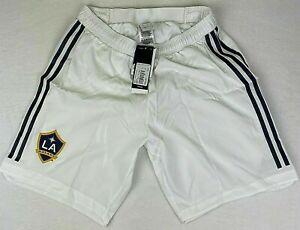 Mens Adidas MLS LA Galaxy Team Soccer Shorts (Underwear lining) White NWT $55